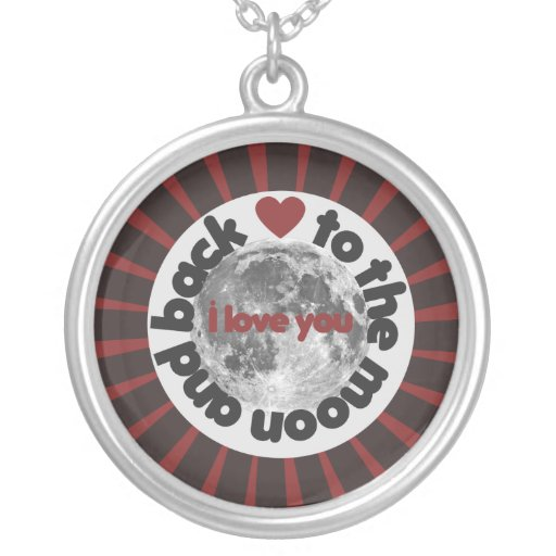I love you to the moon and back pendants