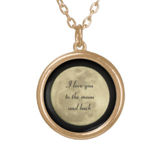 I love you to the moon and back necklace in gold