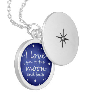 """""""I love you to the moon and back"""" necklace locket"""
