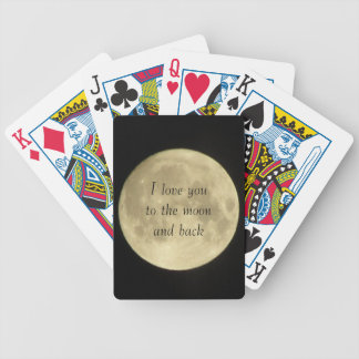 I love you to the moon and back playing cards