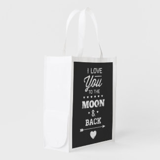 I Love You To The Moon And Back Reusable Grocery Bag