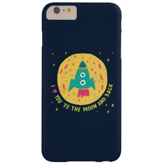 I Love You To The Moon And Back Rocketship Barely There iPhone 6 Plus Case