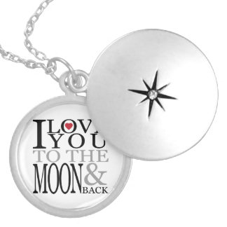I Love You To The Moon And Back Round Locket Necklace