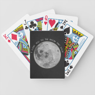 I Love You To The Moon and Back Starry Sky Bicycle Playing Cards