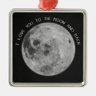 I Love You To The Moon and Back Starry Sky Metal Ornament