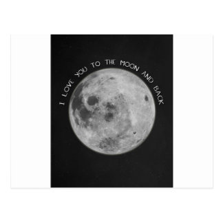 I Love You To The Moon and Back Starry Sky Postcard