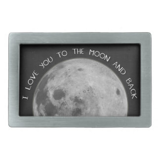 I Love You To The Moon and Back Starry Sky Rectangular Belt Buckles