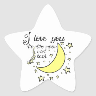 I love you to the moon and back stickers