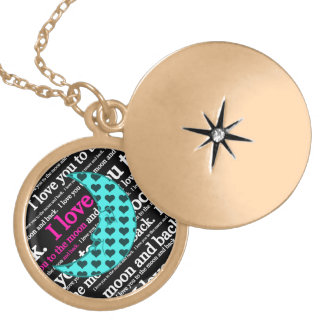 I Love You to the Moon and Back Typography Pendant