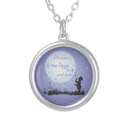 I Love You to the Moon and Back-Unique Gifts Custom Necklace