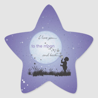 I Love You to the Moon and Back-Unique Gifts Star Stickers