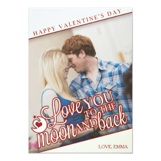 I love you to the moon and back - Valentine's Day Card