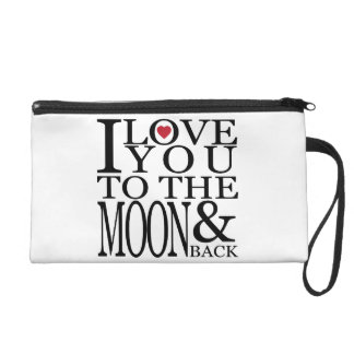 I love you to the moon and back wristlet