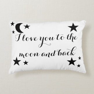 I love you to the moon and bakc accent pillow