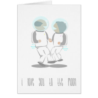 I Love You To The Moon Valentines Day Card