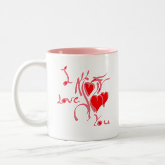 I love you Two-Tone coffee mug