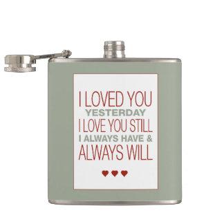 I Love You Valentine Hip Flask