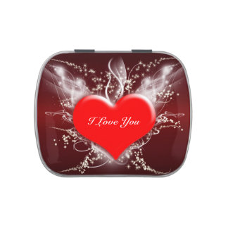 """""""I Love You"""" Valentine's Day Heart Candy Tin"""