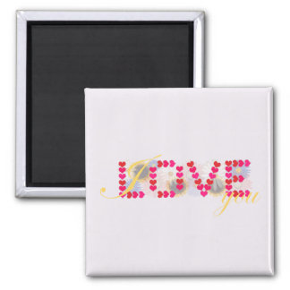 I love you - valentine's day magnets
