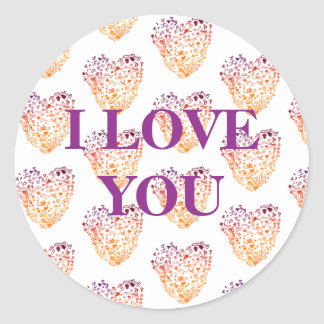 I Love You , Valentine's Day Sticker