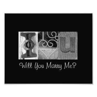 I Love You - Will You Marry Me? - Alphabet Art Photo Art