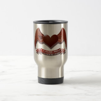 I love you winged heart travel mug
