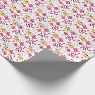 """I love you"" with cute doodle butterflies Wrapping Paper"