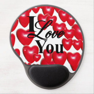 I Love You With Lots Of Hearts Gel Mouse Pad