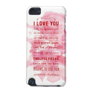 """I Love You With The Nameless Love…"" Funky Chic iPod Touch 5G Case"