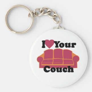 I Love Your Couch Key Ring