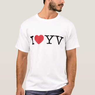 I Love YV EDUN LIVE Eve Ladies Essential Crew T-Shirt