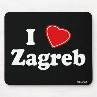 I Love Zagreb Mouse Pad