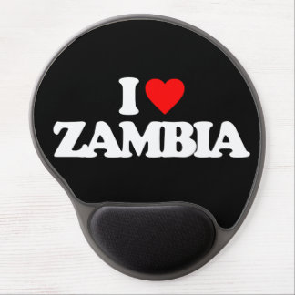 I LOVE ZAMBIA GEL MOUSE PAD
