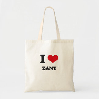 I love Zany Budget Tote Bag