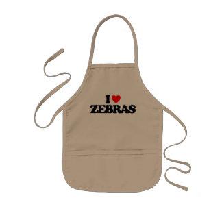 I LOVE ZEBRAS APRONS