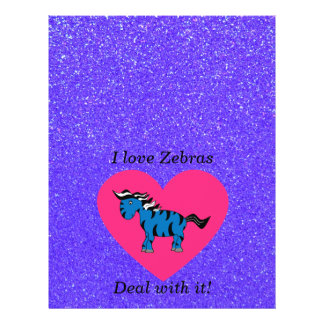 I love zebras deal with it custom flyer
