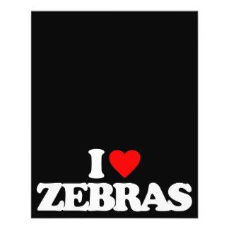 I LOVE ZEBRAS CUSTOM FLYER