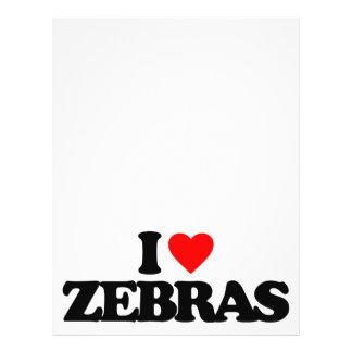 I LOVE ZEBRAS PERSONALIZED FLYER