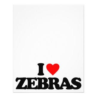 I LOVE ZEBRAS FLYERS