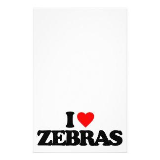 I LOVE ZEBRAS FLYER