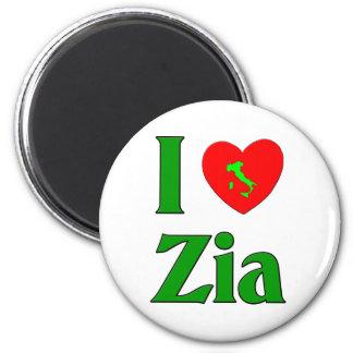 I Love Zia (Italian Aunt) 6 Cm Round Magnet