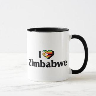 I Love Zimbabwe Flag Mug