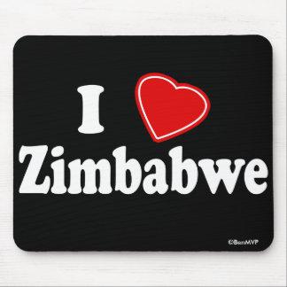 I Love Zimbabwe Mouse Pads