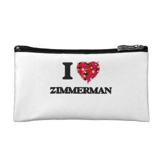 I Love Zimmerman Cosmetic Bags