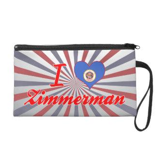 I Love Zimmerman, Minnesota Wristlet Clutch