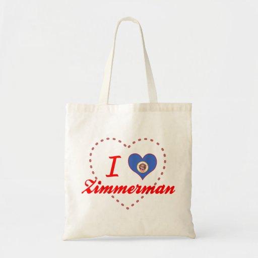 I Love Zimmerman, Minnesota Tote Bag