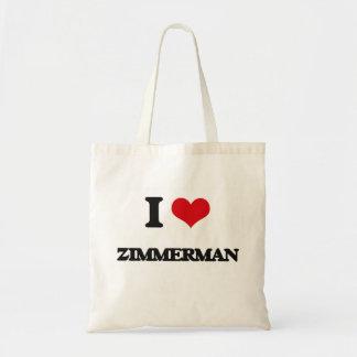 I Love Zimmerman Budget Tote Bag