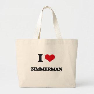 I Love Zimmerman Jumbo Tote Bag