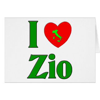 I Love Zio (Italian Uncle) Card