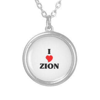 I love Zion Silver Plated Necklace